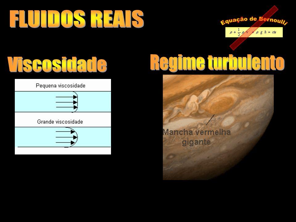 FLUIDOS REAIS Equação de Bernoulli Regime turbulento Viscosidade
