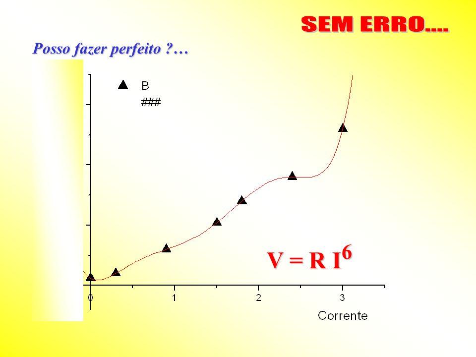 SEM ERRO.... Posso fazer perfeito … V = R I6