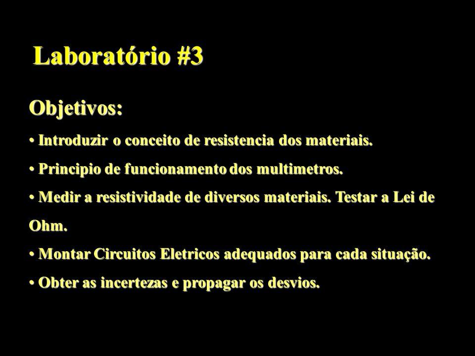 Laboratório #3 Objetivos: