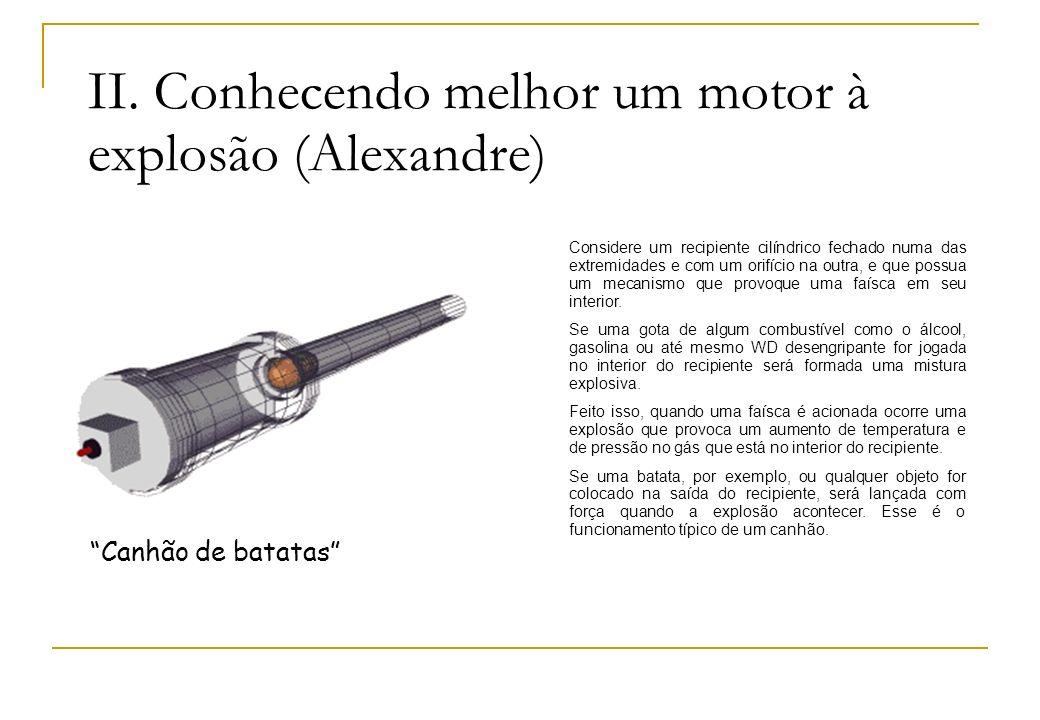 II. Conhecendo melhor um motor à explosão (Alexandre)