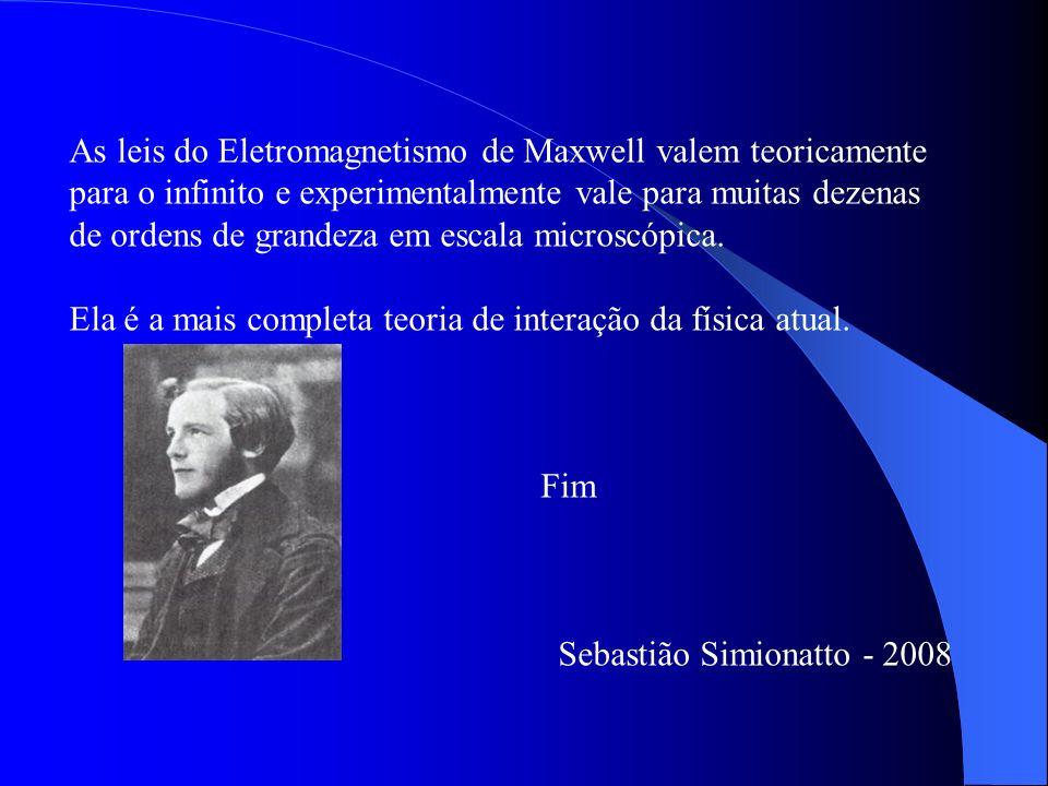 As leis do Eletromagnetismo de Maxwell valem teoricamente