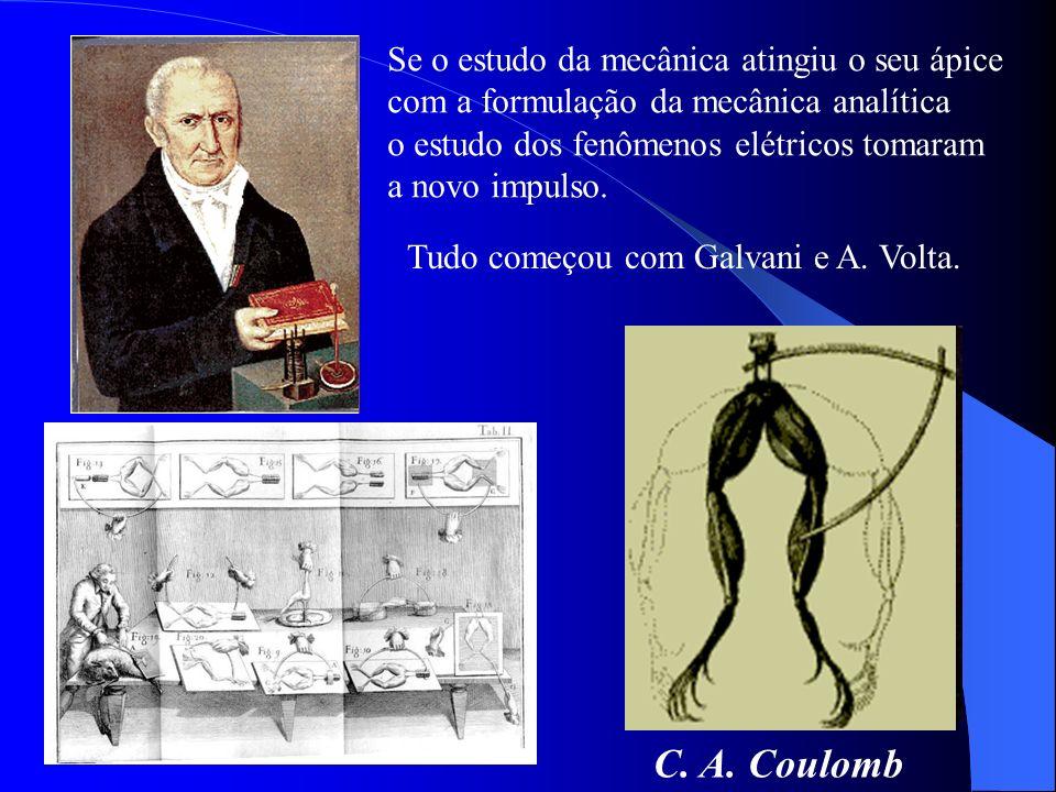 C. A. Coulomb Se o estudo da mecânica atingiu o seu ápice