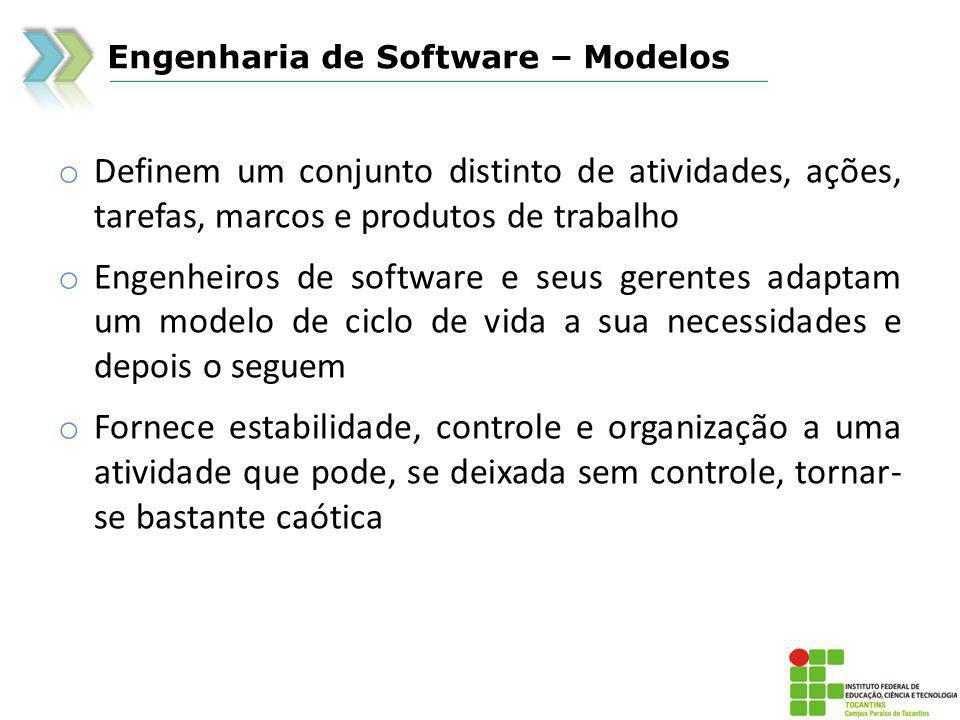 Engenharia de Software – Modelos