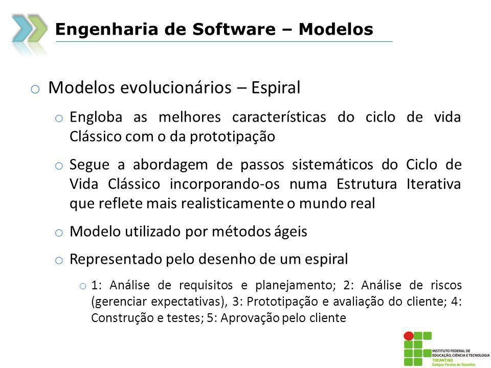 Modelos evolucionários – Espiral