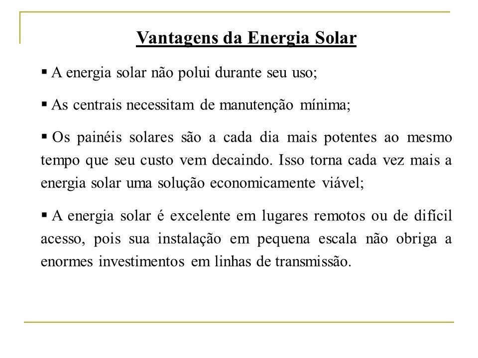 Vantagens da Energia Solar