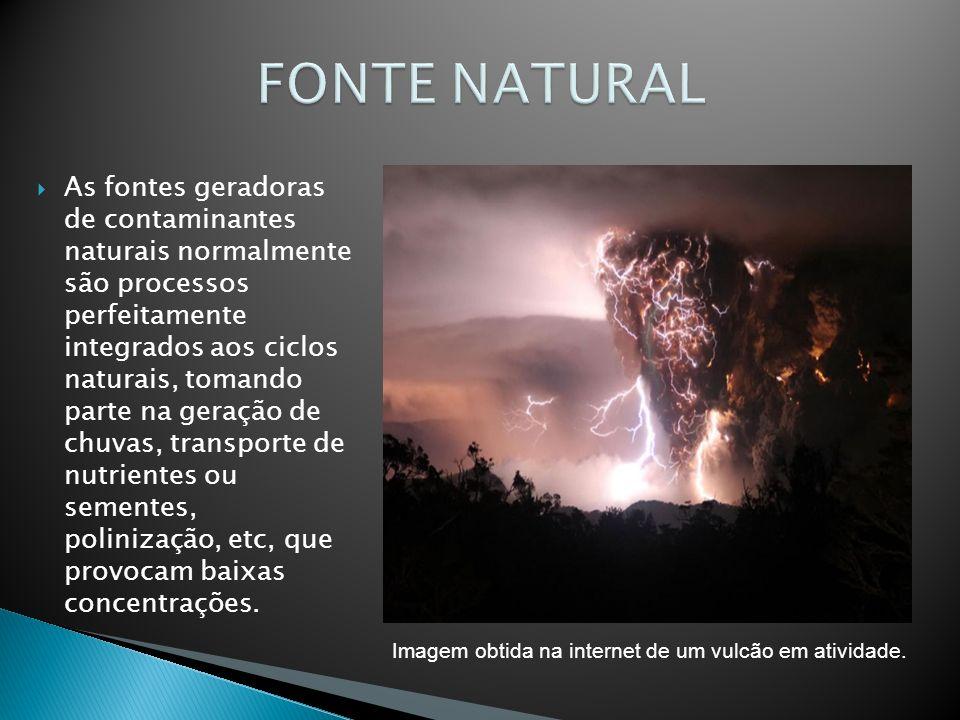 Imagem obtida na internet de um vulcão em atividade.