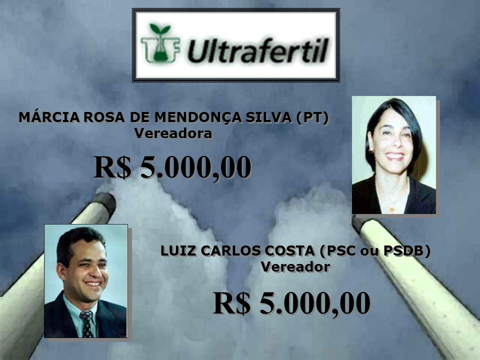 MÁRCIA ROSA DE MENDONÇA SILVA (PT) LUIZ CARLOS COSTA (PSC ou PSDB)