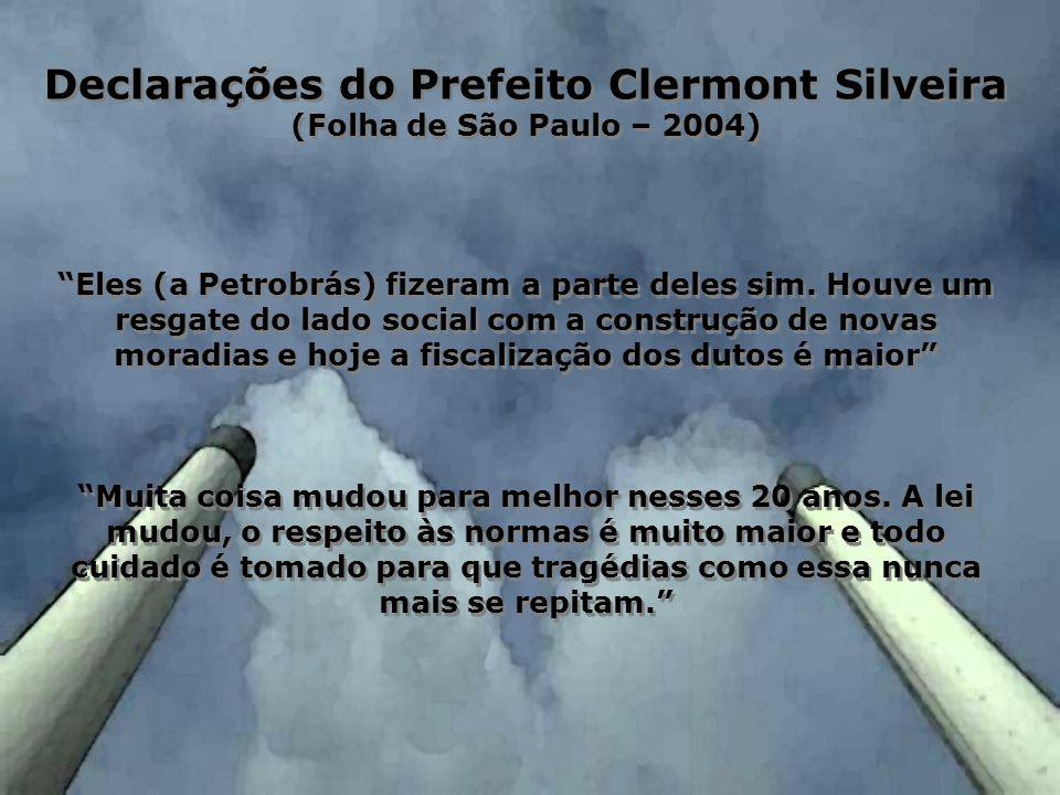 Declarações do Prefeito Clermont Silveira
