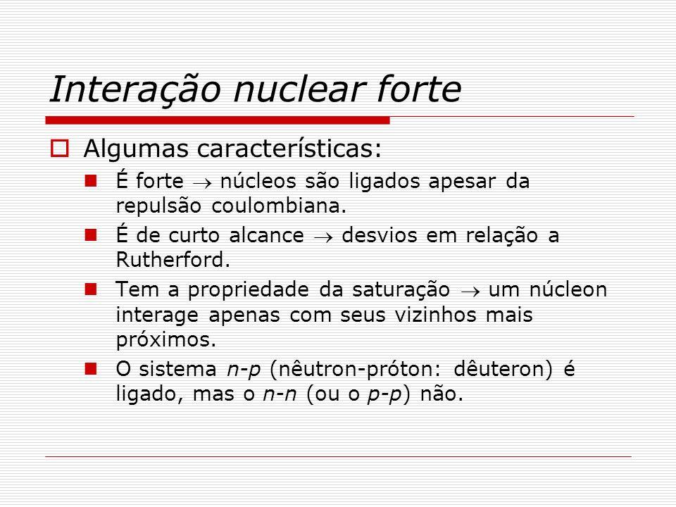 Interação nuclear forte