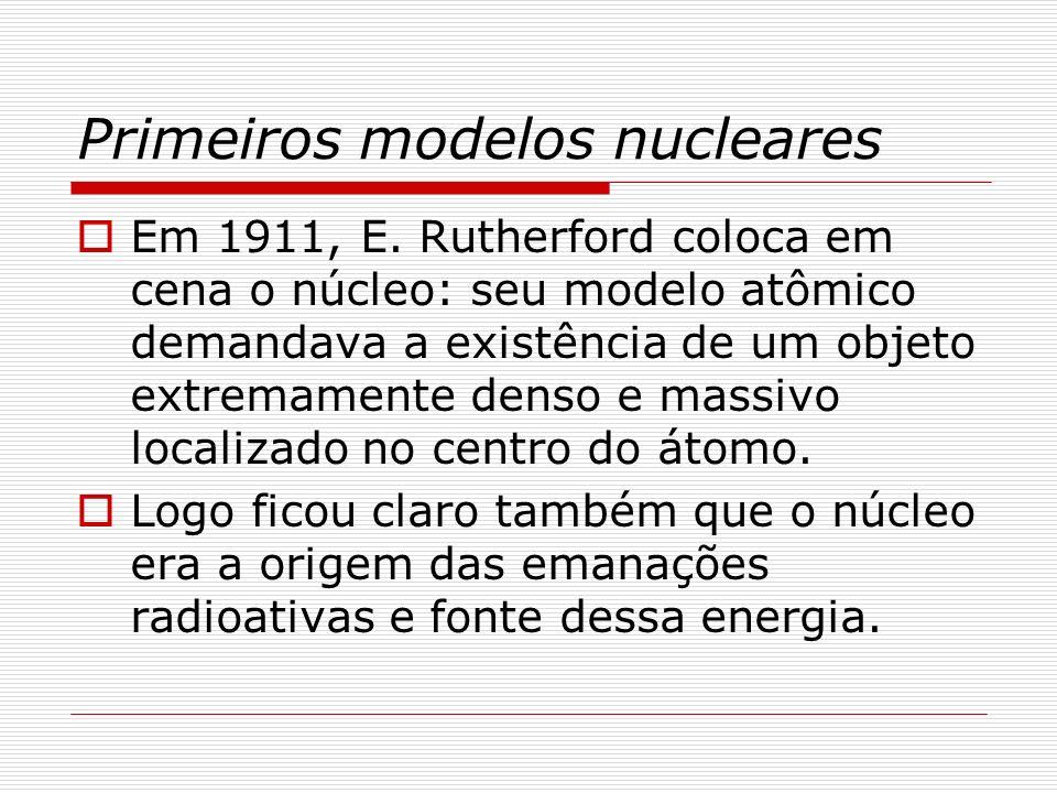 Primeiros modelos nucleares