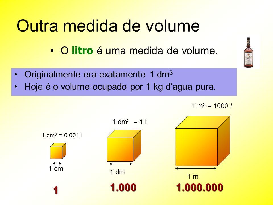 O litro é uma medida de volume.