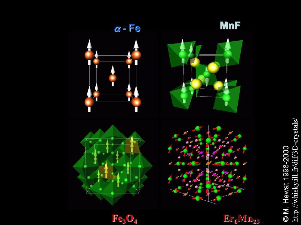 MnF  - Fe FIM: Fe3O4 HAFM: Er6Mn23