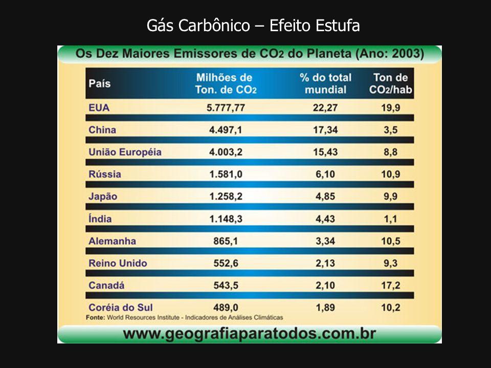 Gás Carbônico – Efeito Estufa