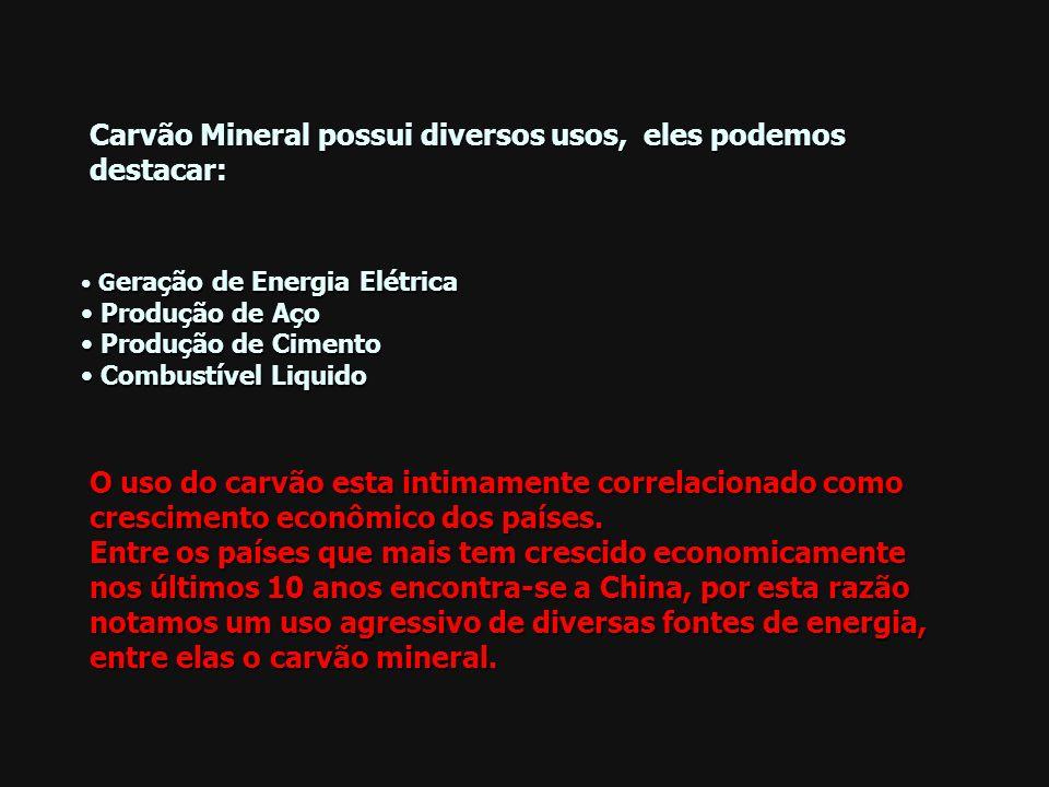 Carvão Mineral possui diversos usos, eles podemos destacar: