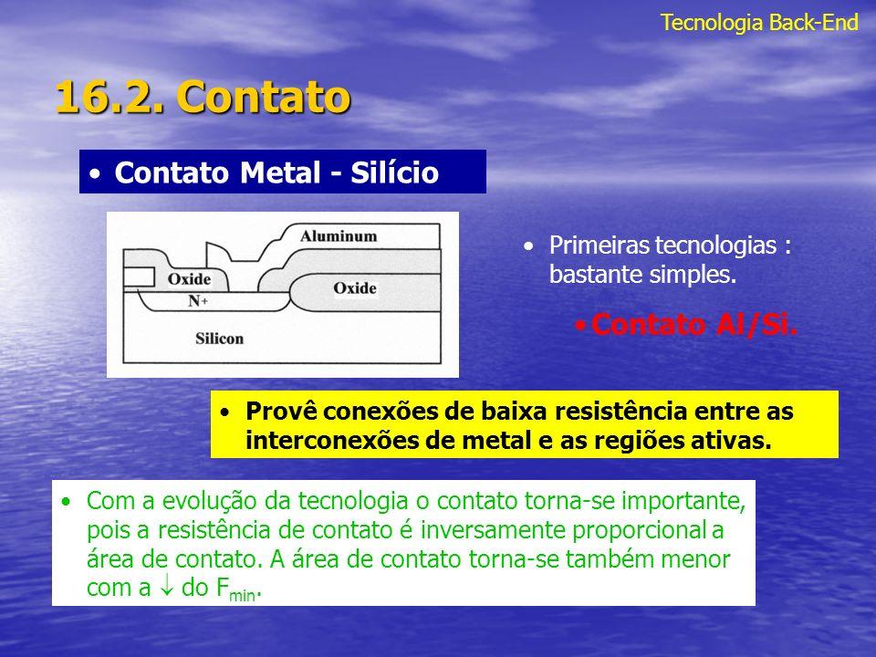 16.2. Contato Contato Metal - Silício Contato Al/Si.
