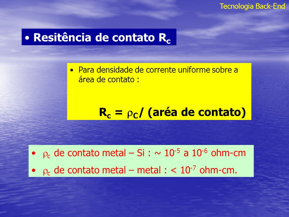 Resitência de contato Rc