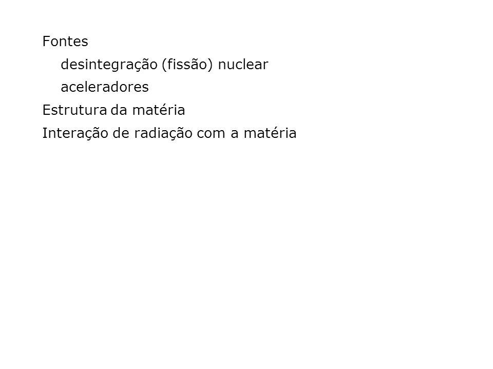 Fontes desintegração (fissão) nuclear. aceleradores.