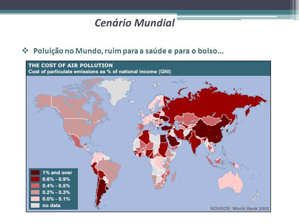 Cenário Mundial Poluição no Mundo, ruim para a saúde e para o bolso...
