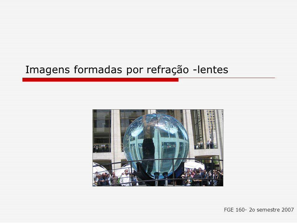 Imagens formadas por refração -lentes