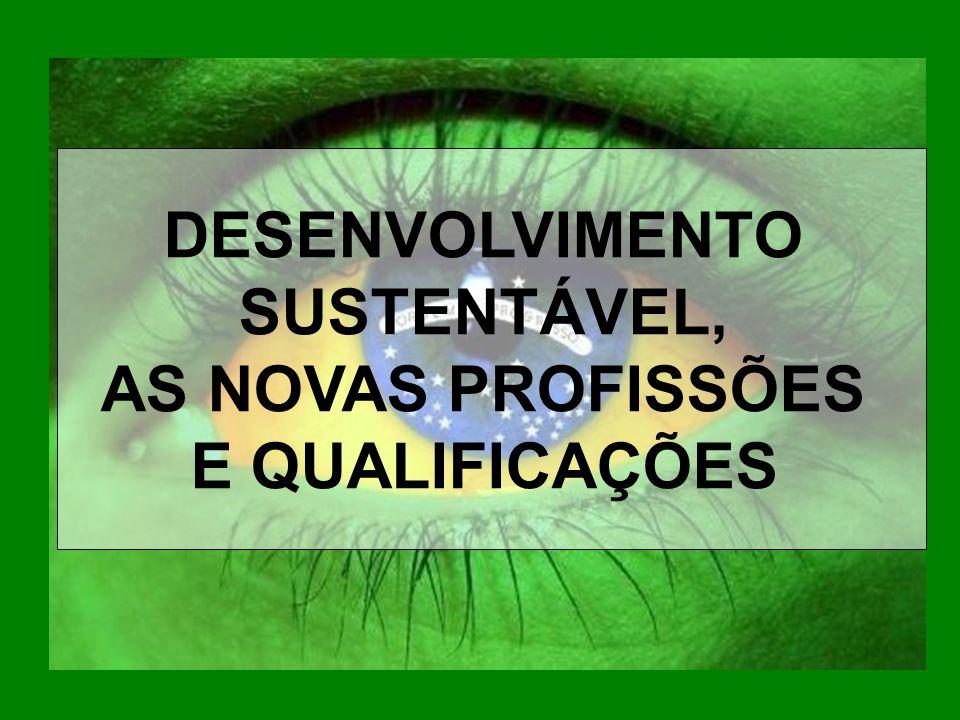 DESENVOLVIMENTO SUSTENTÁVEL, AS NOVAS PROFISSÕES E QUALIFICAÇÕES