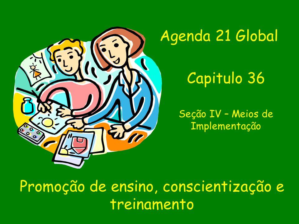 Promoção de ensino, conscientização e treinamento