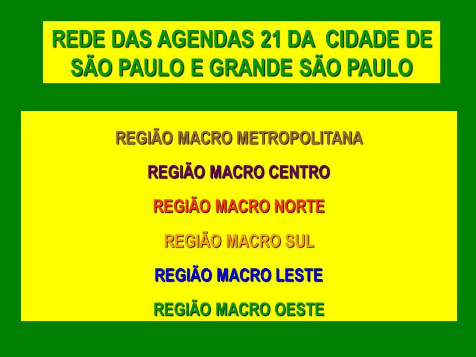 REDE DAS AGENDAS 21 DA CIDADE DE SÃO PAULO E GRANDE SÃO PAULO