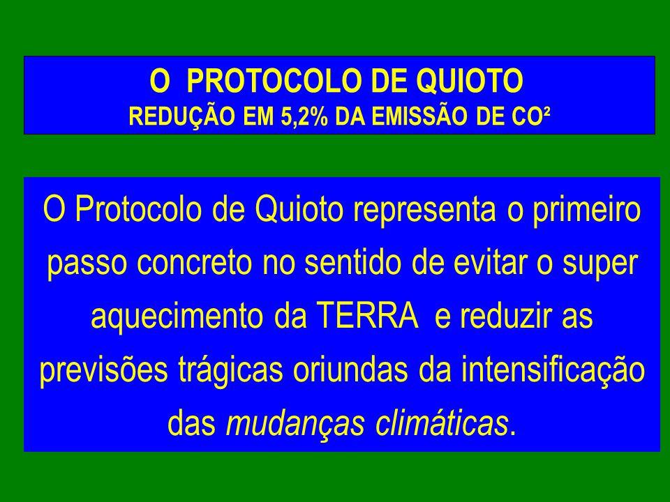REDUÇÃO EM 5,2% DA EMISSÃO DE CO²