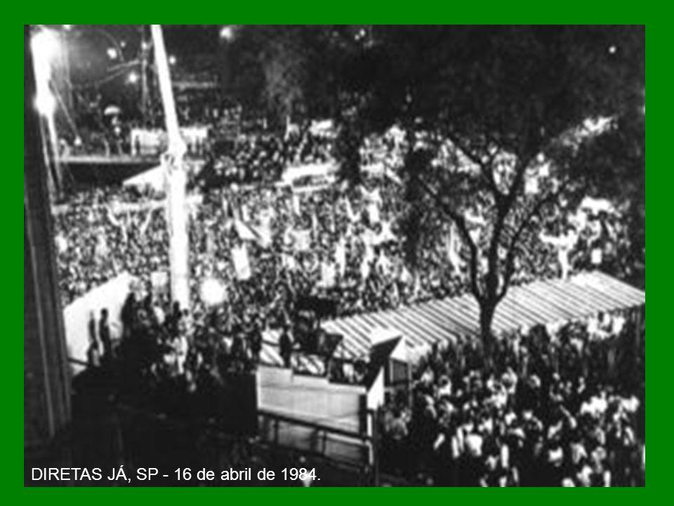 DIRETAS JÁ, SP - 16 de abril de 1984.