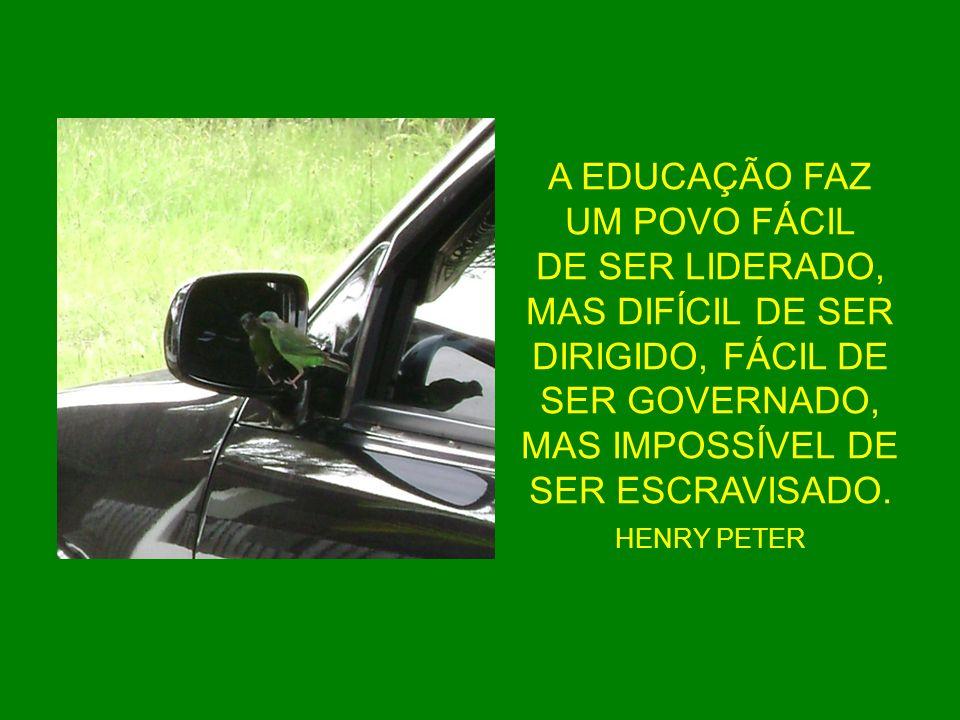 A EDUCAÇÃO FAZ UM POVO FÁCIL