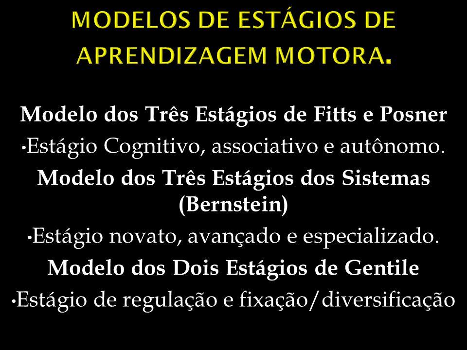 MODELOS DE ESTÁGIOS DE APRENDIZAGEM MOTORA.