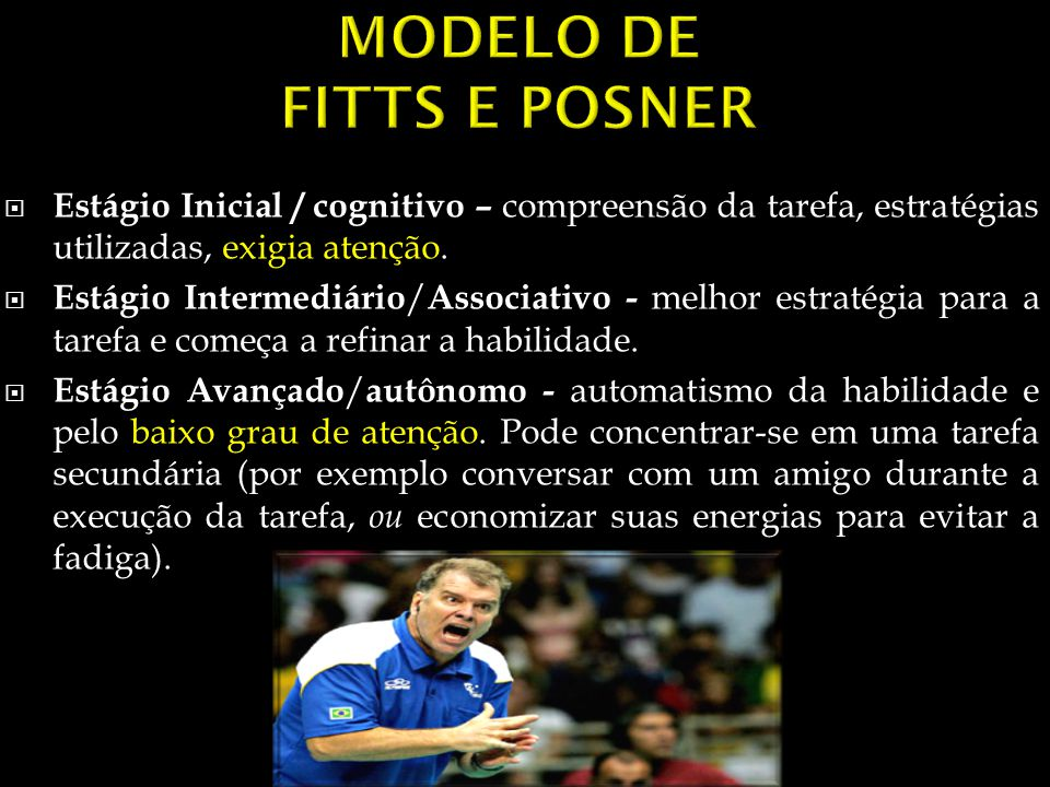 MODELO DE FITTS E POSNER