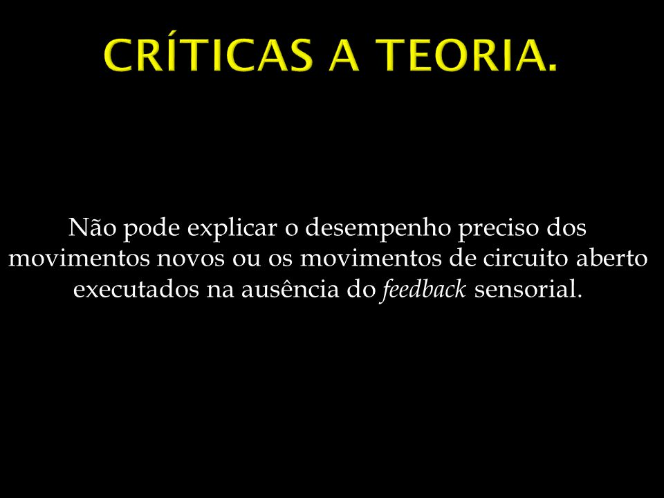 Críticas a teoria.