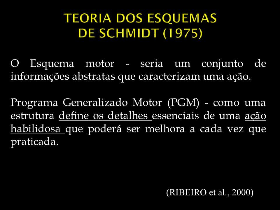 TEORIA DOS ESQUEMAS DE SCHMIDT (1975)