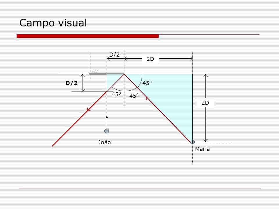 Campo visual D/2 2D D/2 450 450 2D João Maria