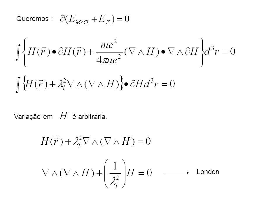 Queremos : Variação em é arbitrária. London