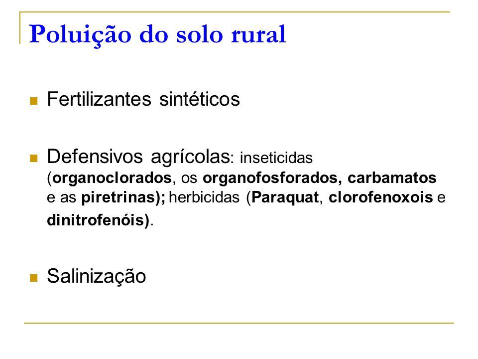 Poluição do solo rural Fertilizantes sintéticos