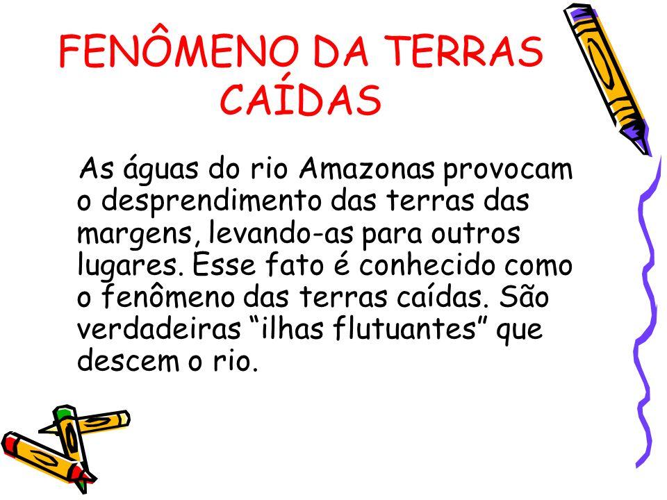 FENÔMENO DA TERRAS CAÍDAS