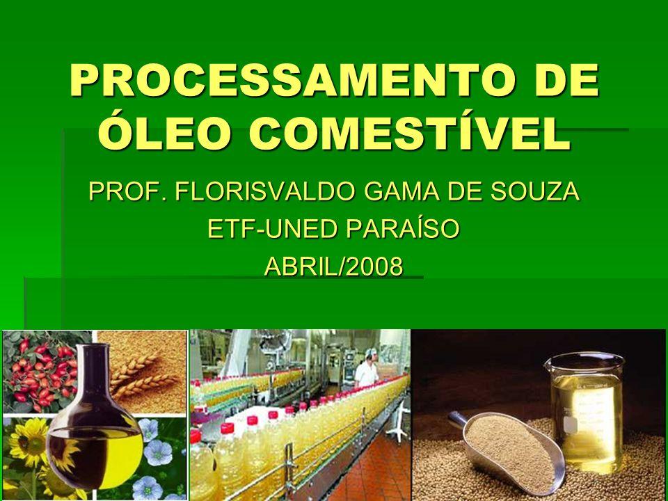 PROCESSAMENTO DE ÓLEO COMESTÍVEL