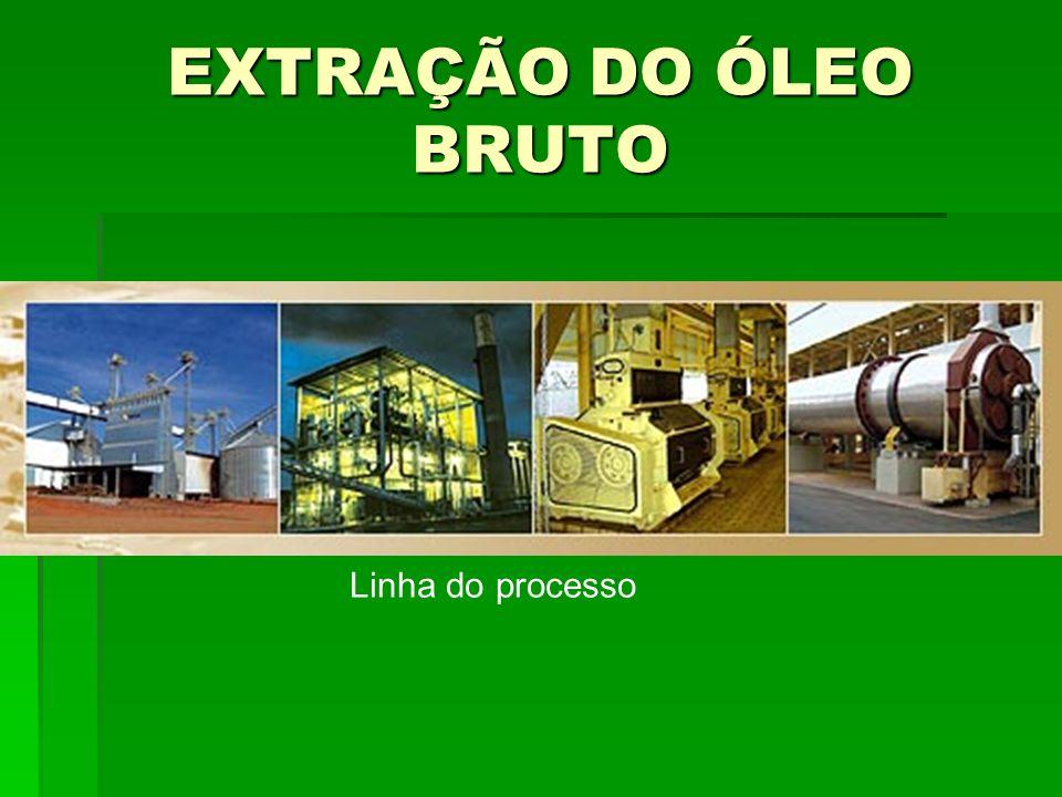 EXTRAÇÃO DO ÓLEO BRUTO Linha do processo