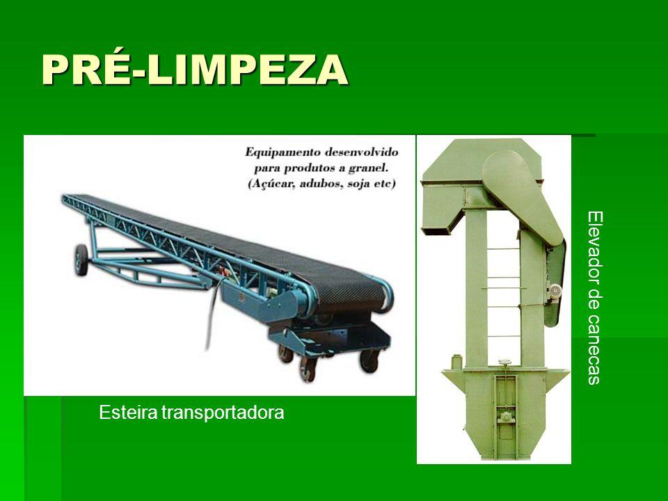 PRÉ-LIMPEZA Elevador de canecas Esteira transportadora
