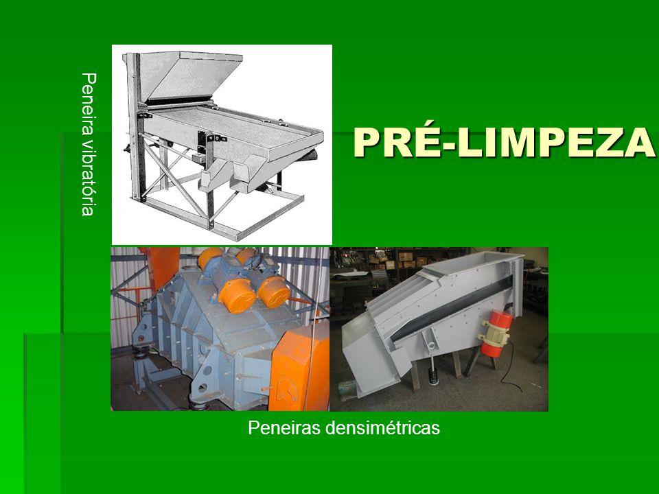 PRÉ-LIMPEZA Peneira vibratória Peneiras densimétricas