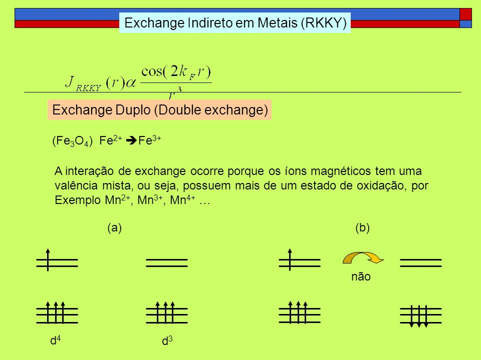 Exchange Indireto em Metais (RKKY)
