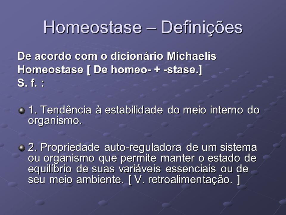 Homeostase – Definições