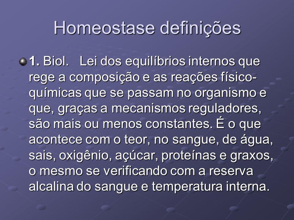 Homeostase definições