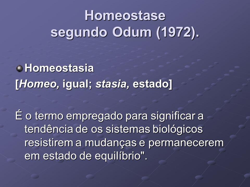 Homeostase segundo Odum (1972).