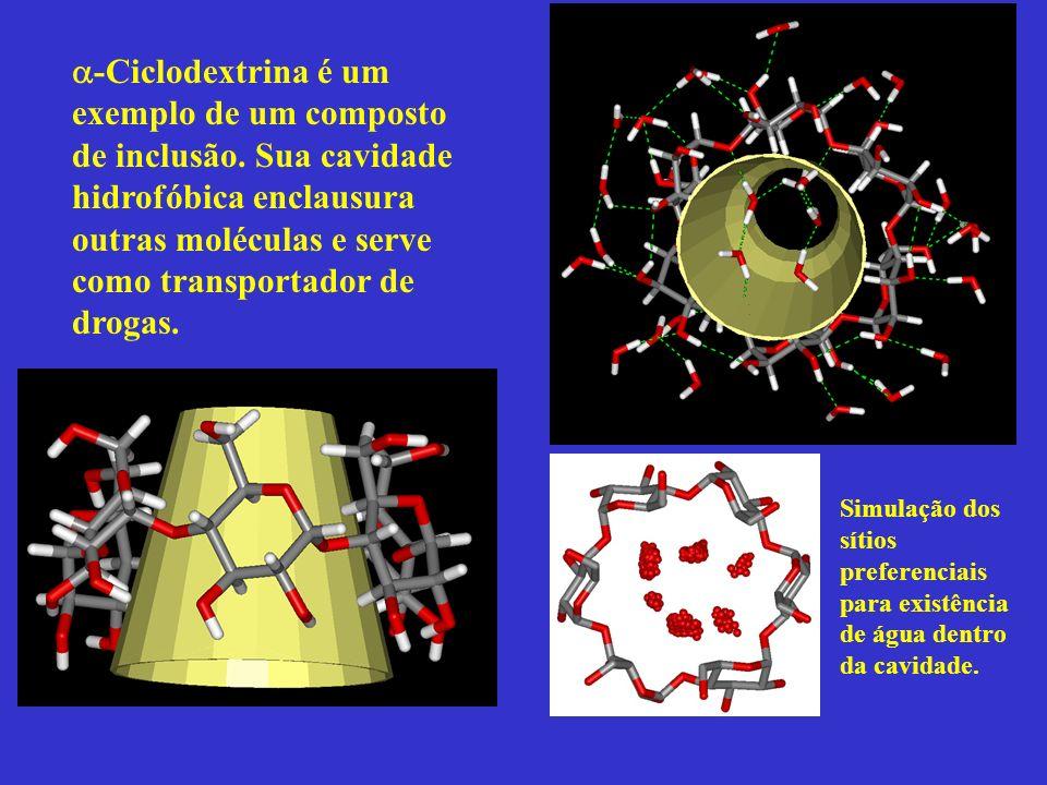 -Ciclodextrina é um exemplo de um composto de inclusão