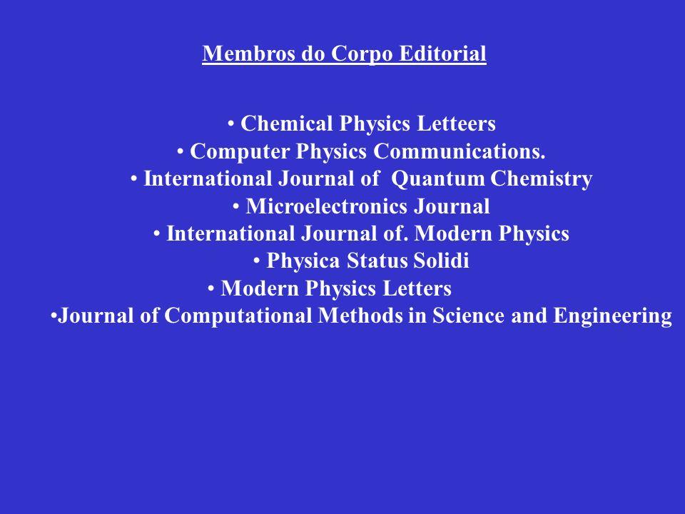 Membros do Corpo Editorial