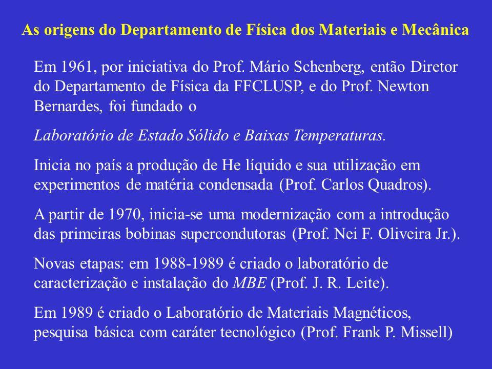 As origens do Departamento de Física dos Materiais e Mecânica