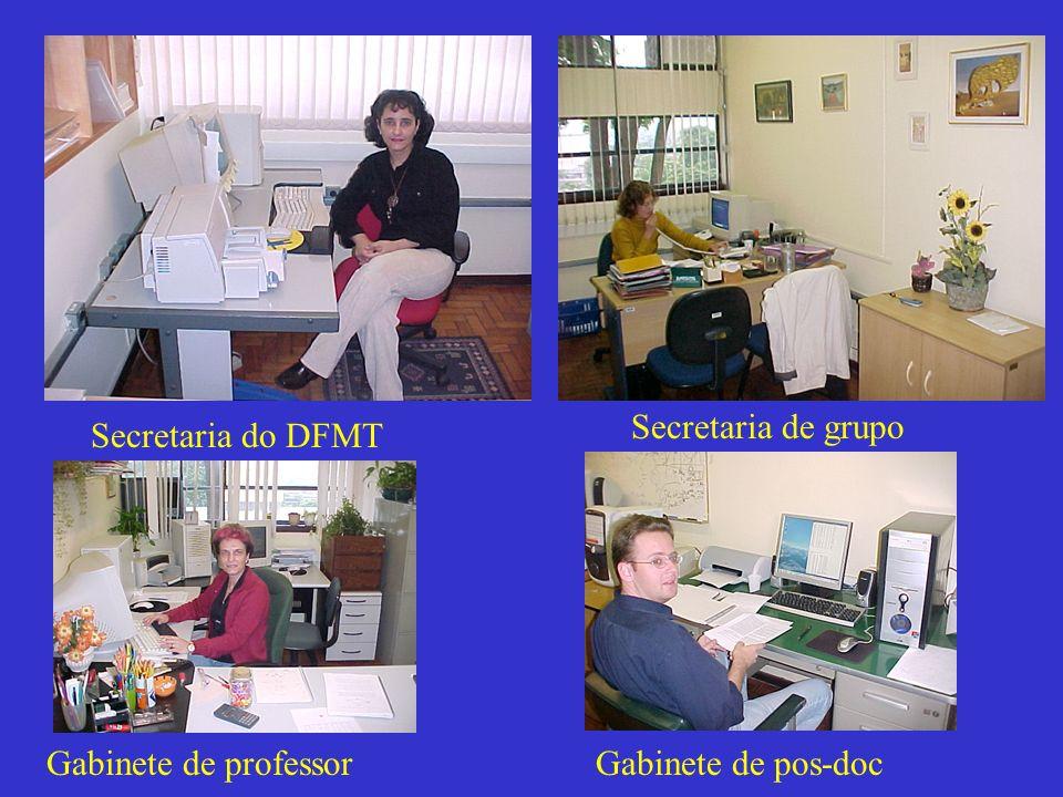 Secretaria de grupo Secretaria do DFMT Gabinete de professor Gabinete de pos-doc