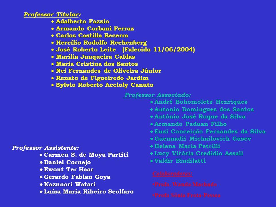Professor Titular: Adalberto Fazzio. Armando Corbani Ferraz. Carlos Castilla Becerra. Hercílio Rodolfo Rechenberg.